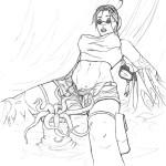 Lara and the Anemone
